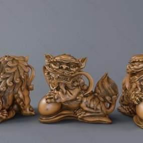 中式狮子3D模型【ID:232107524】