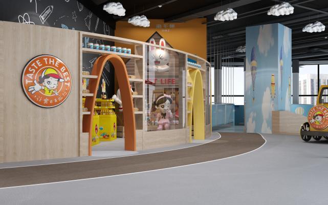 現代兒童樂園3D模型【ID:842169701】