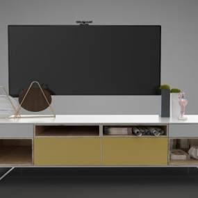 現代風格裝飾柜3D模型【ID:947938976】