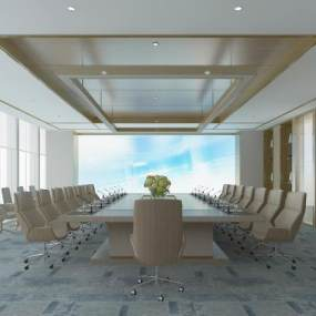 现代会议室3D模型【ID:948579106】
