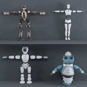 现代工业机器人组合3D模型【ID:331617463】