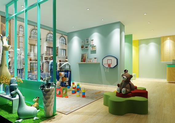 北欧儿童摄影3D模型【ID:943152942】