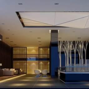 现代售楼处3D模型【ID:934705676】