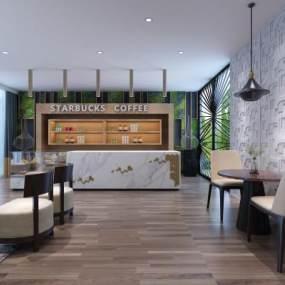 现代咖啡店3D模型【ID:643306359】