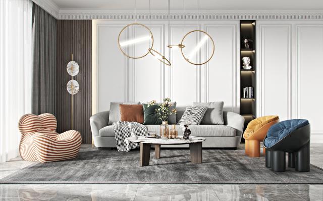 现代沙发几组合 单人椅 懒人沙发