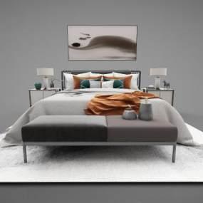 新中式家具组合3D模型【ID:643526791】