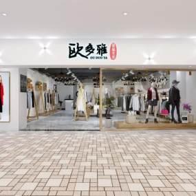 现代服装店门头室内3D模型【ID:930515867】