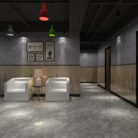 北欧餐厅过道 3D模型【ID:642294504】