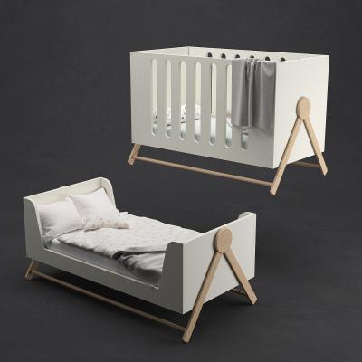 現代嬰兒床3D模型【ID:845703857】