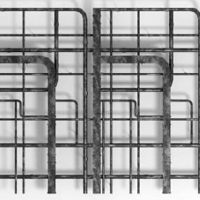 现代工业风管道3D模型【ID:331807435】