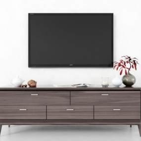 現代電視柜3D模型【ID:951163931】