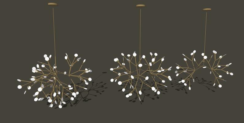 吊燈SU模型【ID:344052835】