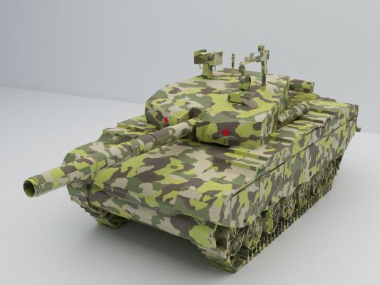解放军99式主战车3D模型【ID:441299266】