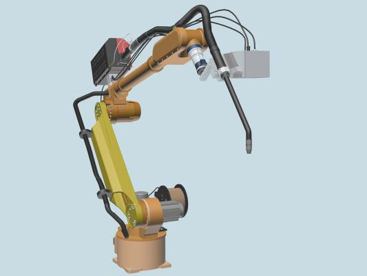 工業風焊接機器人(機械臂)3D模型【ID:441986302】