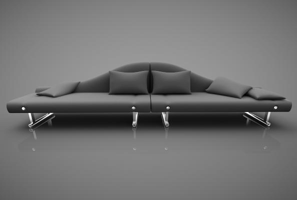 现代风格休闲沙发3D模型【ID:642551678】