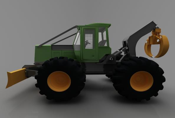现代风格推土车3D模型【ID:443580710】