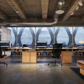 工業風辦公室3D模型【ID:951255098】