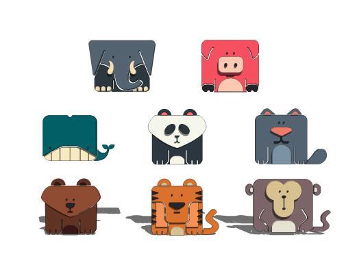 现代卡通小动物挂件SU模型【ID:948431223】