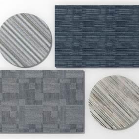 现代办公地毯组合模型3D模型【ID:332318276】