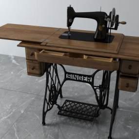 现代缝纫机3D模型【ID:433697553】