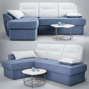现代沙发茶几组合3D模型【ID:649245796】