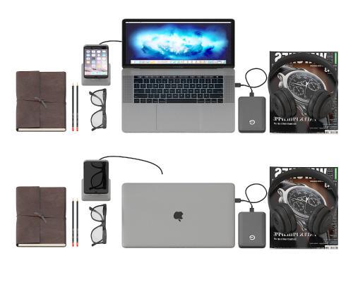 苹果笔记本电脑组合3D模型【ID:241753726】