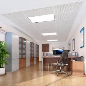 现代办公室3D模型【ID:948874060】