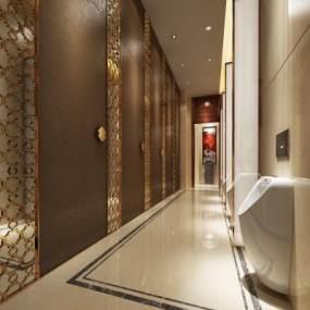 新中式酒店卫生间3D模型【ID:434500158】