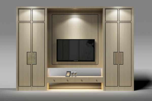 现代衣柜3D模型【ID:132536420】