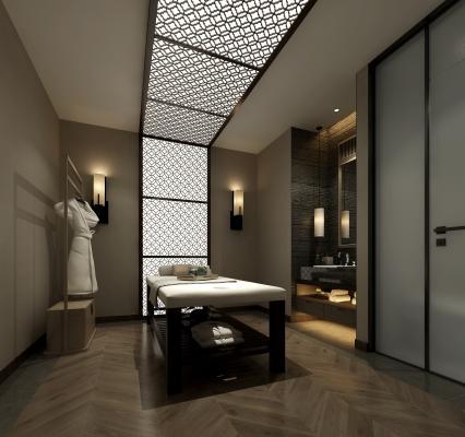 新中式足浴按摩床 衣架