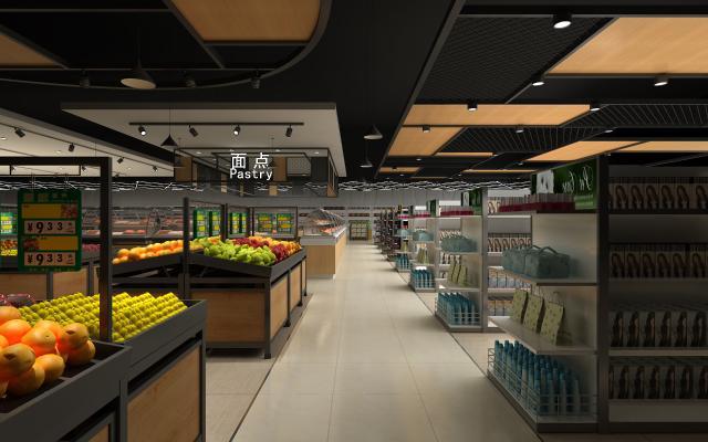 现代商场超市3D模型【ID:143770190】
