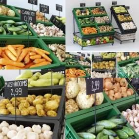 北欧超市水果蔬菜3D模型【ID:635771324】