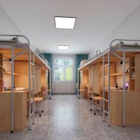 現代風格宿舍3D模型【ID:950994600】