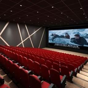 现代电影院放映厅3D模型【ID:643449807】