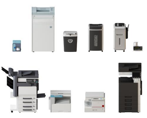 现代打印机3D模型【ID:342368070】