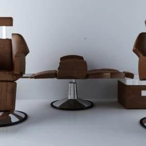 现代理发椅子3D模型【ID:733086369】