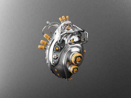 工業風心臟3D模型【ID:436217307】