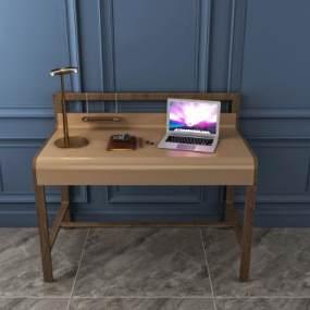 现代家居办公桌组合3D模型【ID:953010112】