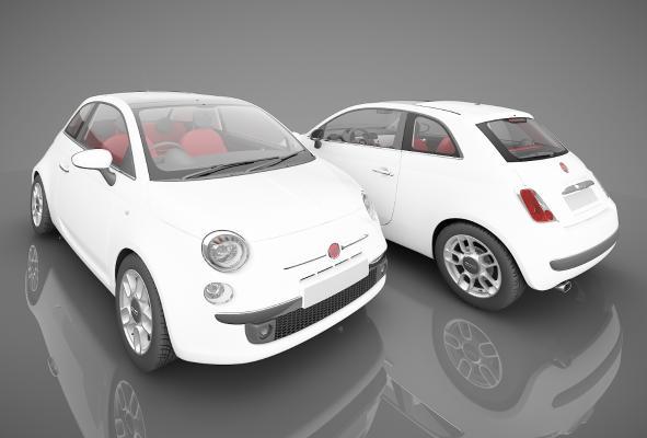 現代風格小汽車3D模型【ID:341842886】