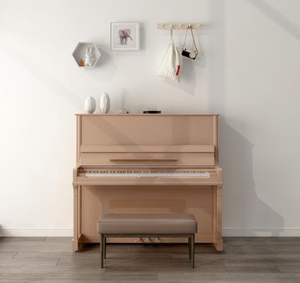 北歐鋼琴3D模型【ID:343626953】