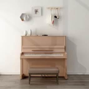 北欧钢琴3D模型【ID:343626953】