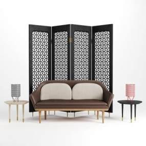 新中式沙发组合3D模型【ID:649246729】