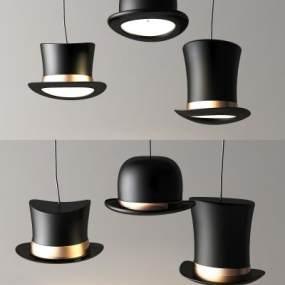魔术帽吊灯 3D模型【ID:741559815】