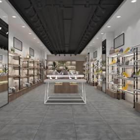 工业风鞋店3D模型【ID:930998802】