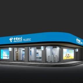 现代中国移动营业厅3D模型【ID:934482831】