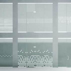 现代办公室玻璃推拉门3D模型【ID:345702147】