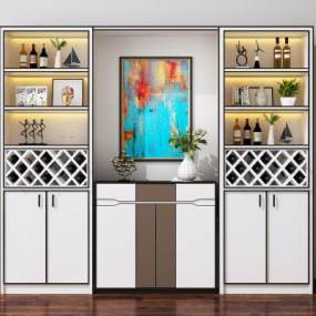 现代酒柜3D模型【ID:648714262】