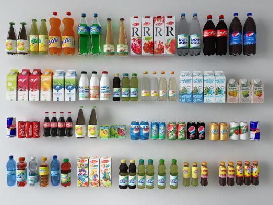 现代饮料汽水组合