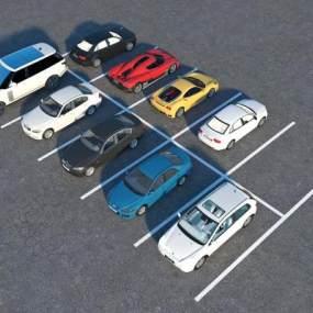 现代汽车组合3D模型【ID:435721719】