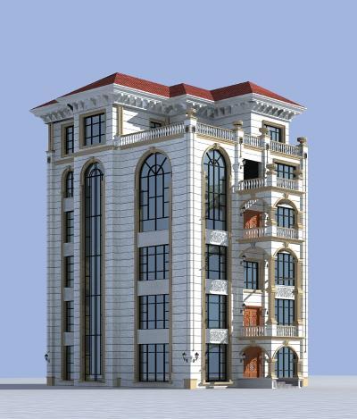 欧式简约别墅3D模型【ID:142062386】